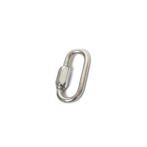 스텐 퀵링크 3.5mm 연결 고리 카라 쇠사슬 캠핑 강철 상품이미지