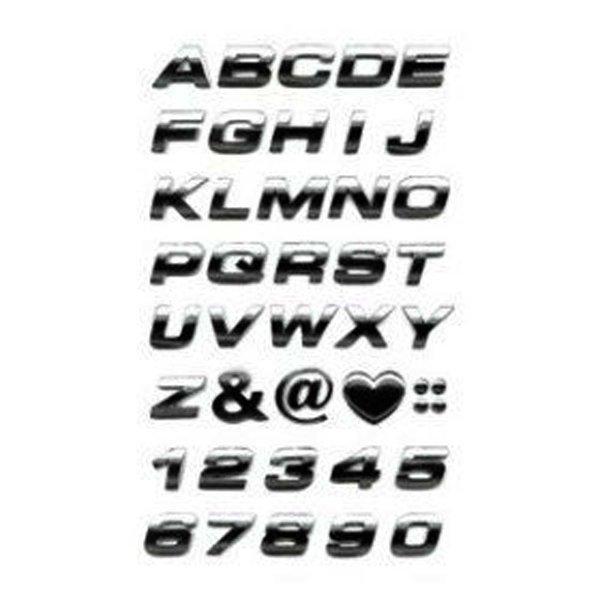 이탤릭 입체문자(은색) 숫자/이니셜문자/알파벳(20mm) 상품이미지