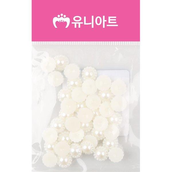 (유니아트) 1000 반쪽진주 꽃 10mm 진주색 상품이미지