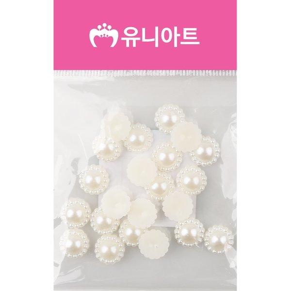 (유니아트) 1000 반쪽진주 꽃 12mm 진주색 상품이미지