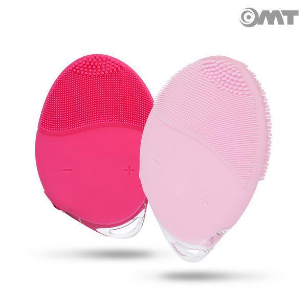 OMT 휴대용 충전 실리콘 방수 진동클렌저 SK-0089 레드 상품이미지
