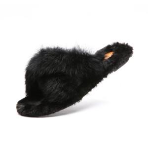 SNRD 토끼털 포그니 퍼 슬리퍼 실내화 엑스형/일자형