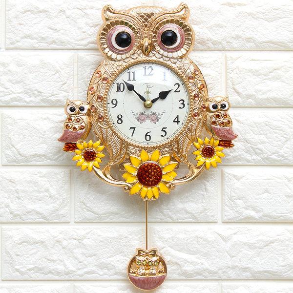 인테리어시계 해바라기부엉이Q(P)집들이선물 결혼선물 상품이미지