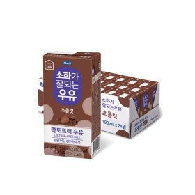 매일 소화가잘되는 초콜릿우유 190ml 24팩/우유