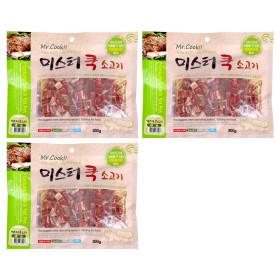 미스터쿡 강아지 사사미 간식 소고기 큐브 300g