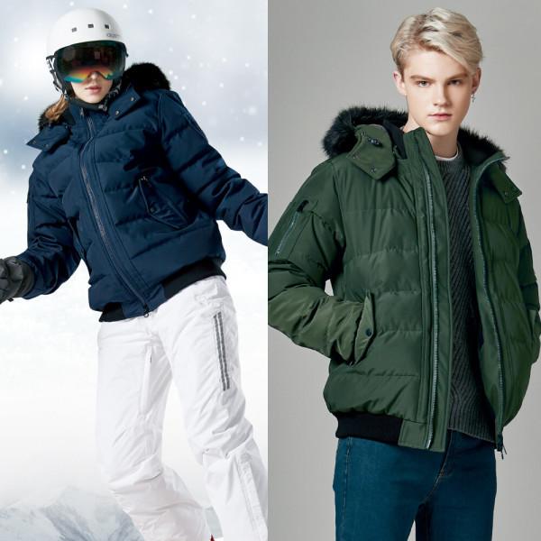 숏패딩 후드 라쿤잠바 여성 남자 스키복상의115 F8526 상품이미지