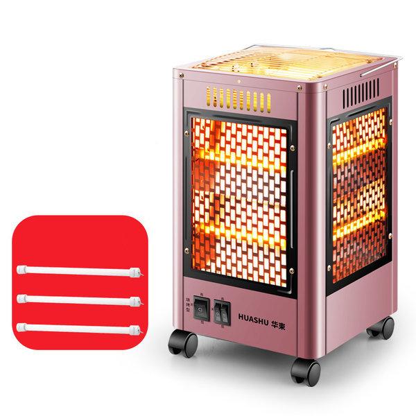 오방향난로 중형 전기히터 전기난로 난방기 핑크색 상품이미지