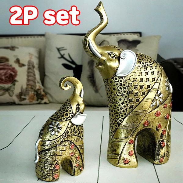 돈과 복을 부르는 황금코끼리 2p 인테리어소품 선물 상품이미지
