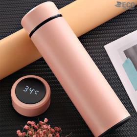 온도표시 보온 보냉 스마트텀블러 핑크 500ml