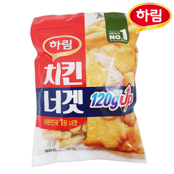 하림 치킨너겟 600g/아이들반찬/텐더/팝콘치킨/닭강정 상품이미지