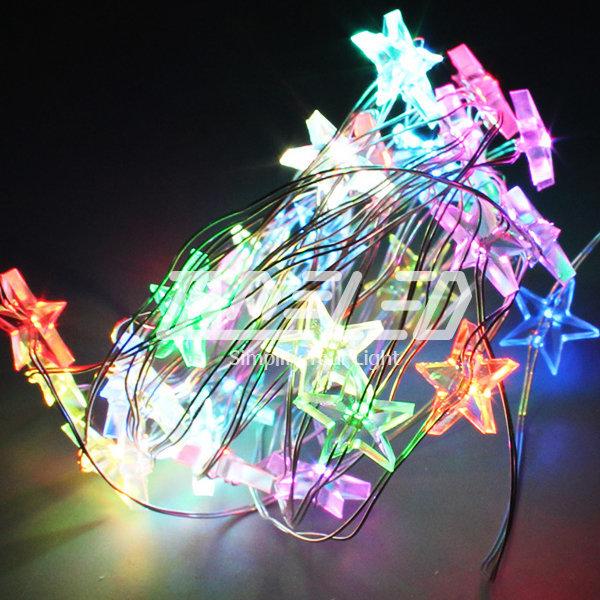 LED 츄리용 전구 큐빅 별 은하수 눈꽃 크리스마스장식 상품이미지