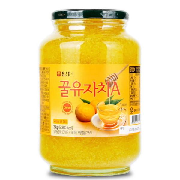 담터 꿀유자차A 2kg+전용포장/생강차/유자청 : 대용량~ 상품이미지