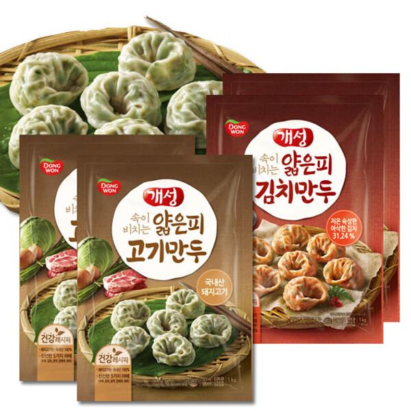 (현대Hmall)동원 개성얇은피 고기만두 1kg X2봉 /김치만두 상품이미지
