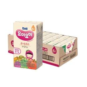 요미요미 유기농 주스 과일 믹스 125ML 24팩
