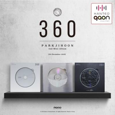 PARK JI HOON -360(2nd mini album) photo card+rotating puzzle card