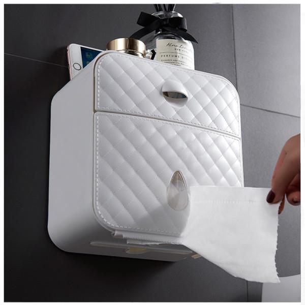 무타공 욕실휴지걸이 서랍형/화장실 홀더 수납 선반 상품이미지