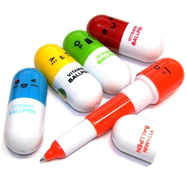 비타민 알약 캡슐 볼펜-펜 선물 판촉물 캐릭터 필기구 상품이미지