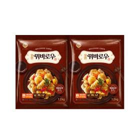 꿔바로우 1.2kg 2팩 (신세계푸드/ 총 2.4kg /소스포함)