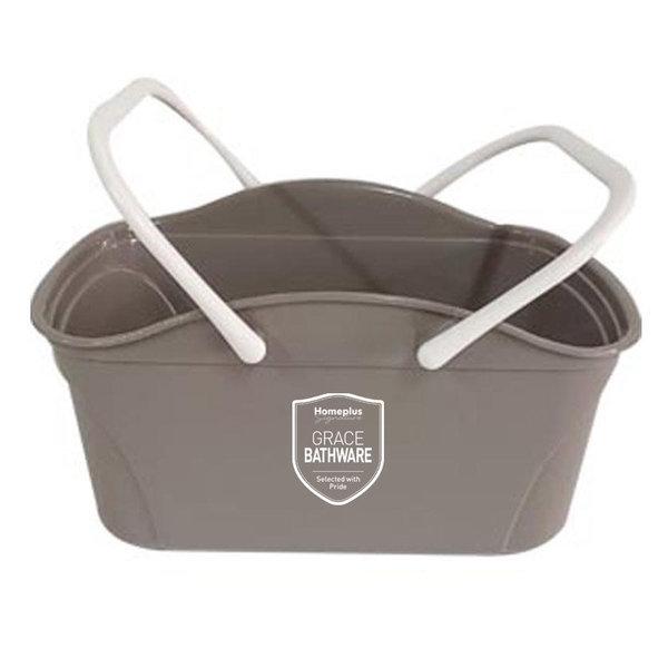 (행사상품)홈플러스시그니처 그레이스 컬러 물빠짐목욕바구니 애쉬브라운 상품이미지