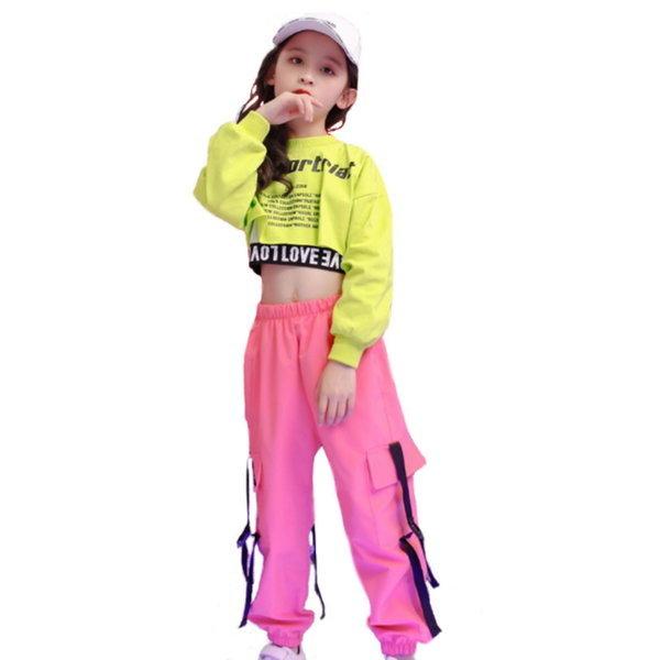 주니어 힙합 티 탱크 탑 카고 팬츠 댄스 재즈 패션 상품이미지