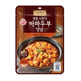 (묶음할인)오뚜기_오늘밥상전통사천식마파두부양념_130G