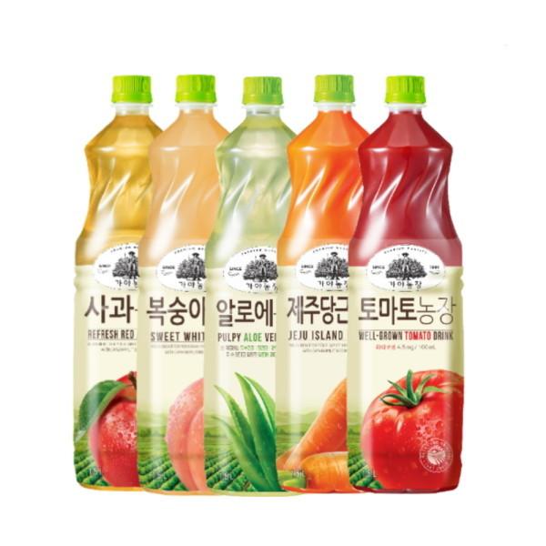 웅진식품  가야농장 과일농장 주스 1.5L x 8페트 (2가지 맛 골라담기) 상품이미지
