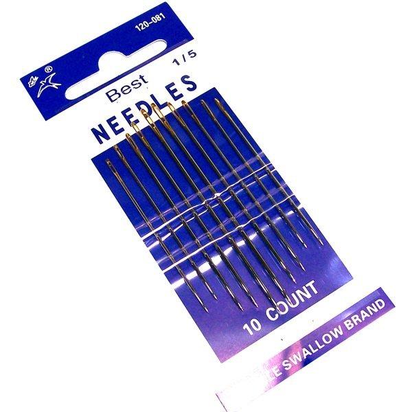 탄소강 바늘 10p세트-바느질 손바늘 수예용품 상품이미지