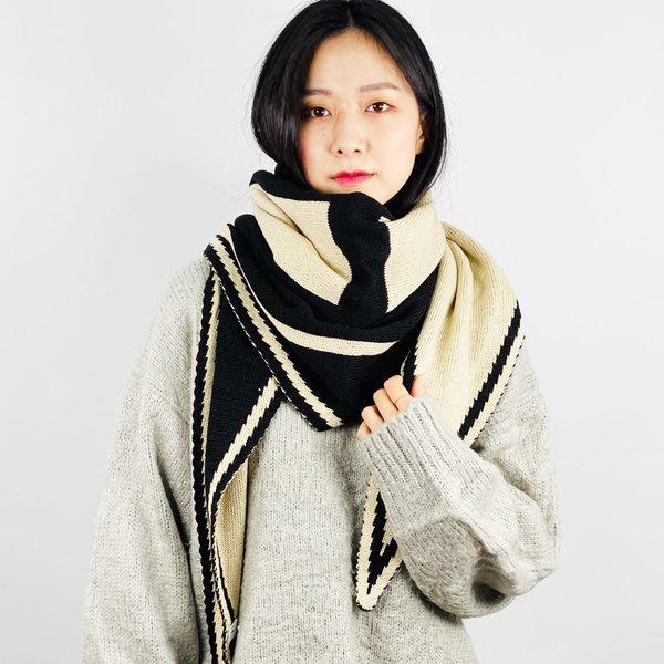 삼각 빅H 머플러 겨울 여성 목도리 니트 숄 캐시미어 상품이미지