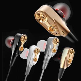 OMT 듀얼스피커 메탈 유선 이어폰 헤드폰 OEP-QKZ 블랙