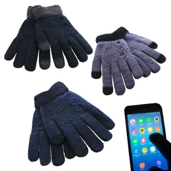겨울 방한 니트 기모장갑 손목 스마트폰 터치 장갑 상품이미지