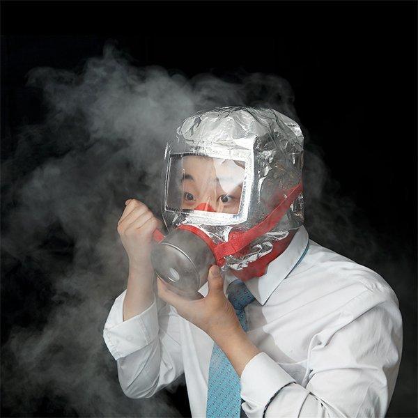 (리브블루) 리브블루 화재 마스크 방연 긴급대피 방독면 LIVM0023 상품이미지