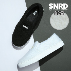 SNRD 여성 양털 뽀글이 슬립온 겨울신발 SN580