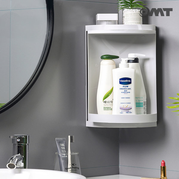 OMT 욕실 코너 수납 선반 회전식 수납장 OB-YS01 상품이미지