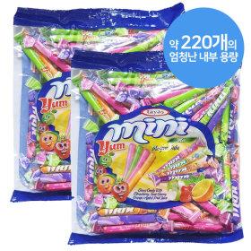 미니얌 캔디 믹스 700gx2개/대용량사탕 카라멜 젤리껌