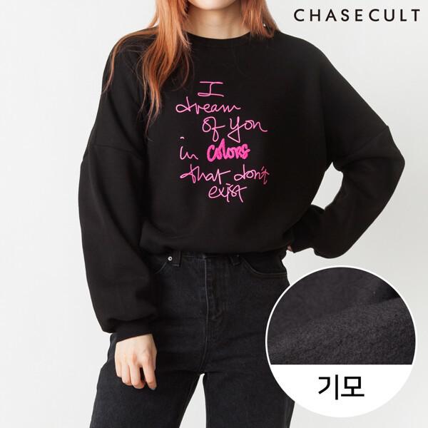 (현대Hmall) 체이스컬트  19FW 여성 네온레터 기모 맨투맨 티셔츠-JFRG5193D03 상품이미지