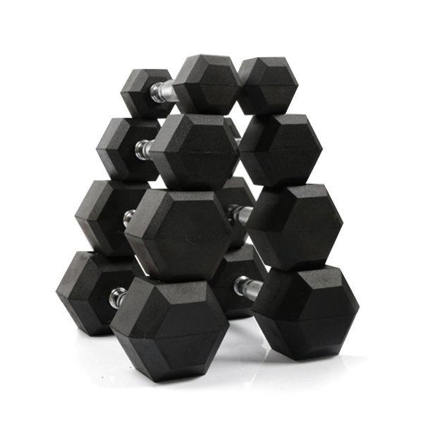 K4스포츠 K4-70 고무코팅 블랙 육각덤벨아령7.5kg 상품이미지