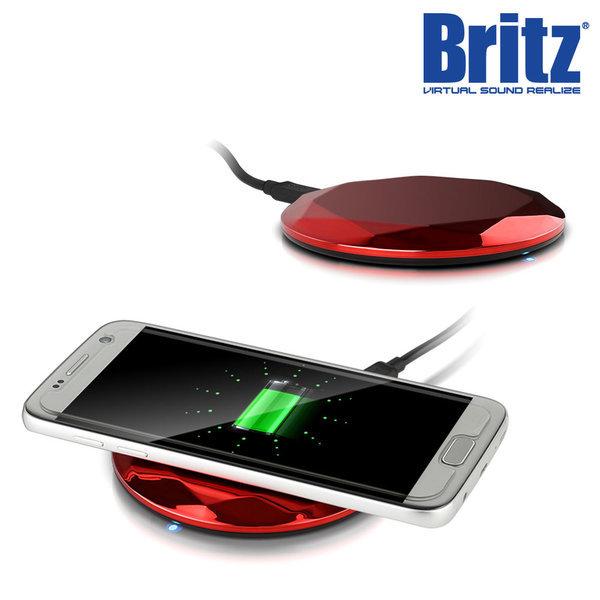 BZ-T7 WC 스마트폰 무선 충전기 고속 휴대용 레드. 상품이미지