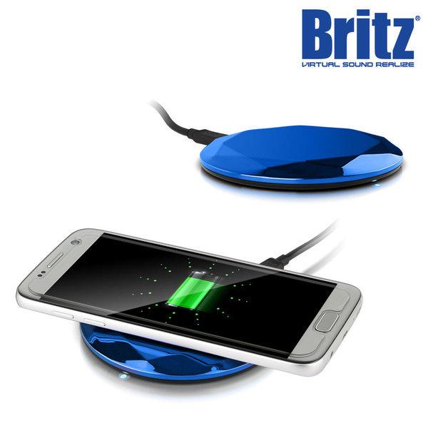 BZ-T7 WC 스마트폰 무선 충전기 고속 휴대용 블루. 상품이미지