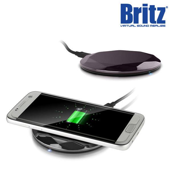 BZ-T7 WC 스마트폰 무선 충전기 고속 휴대용 블랙. 상품이미지