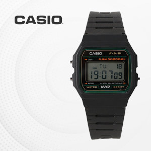 [카시오]CASIO F-91W-3D 우레탄밴드 군인 전자 디지털 손목시계