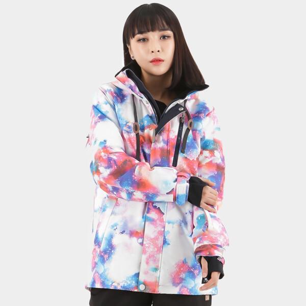 (현대백화점)라시엘로 LAZ-J811-FLOWER PINK 여성 스키복 보드복 점퍼 자켓 상품이미지