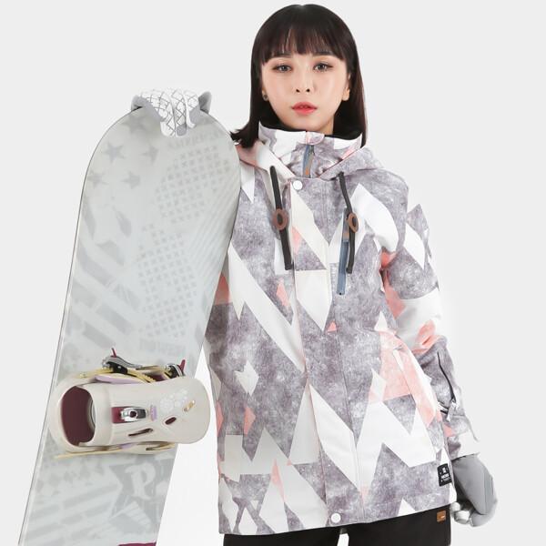 (현대백화점)라시엘로 LAZ-J811-GRAY PINK 여성 스키복 보드복 점퍼 자켓 상품이미지