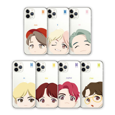 BTS MOTION FACE CLEAR SOFT CASE IPHONE PHONE CASE