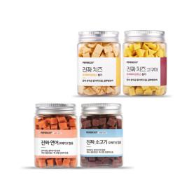 진짜 시리즈 4개 SET  연어+소고기+치즈+치즈고구마