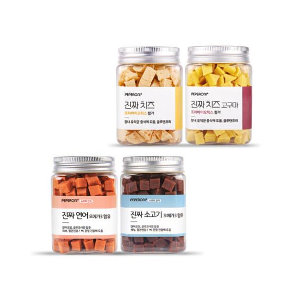 진짜 시리즈 4개 SET  연어+소고기+치즈+치즈고구마 상품이미지