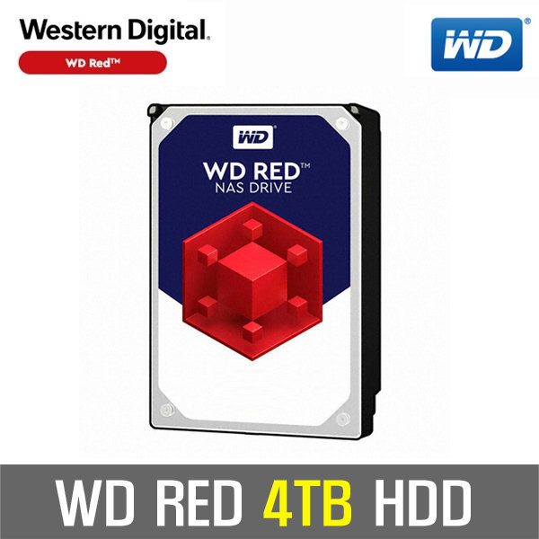 WD RED 4TB NAS HDD WD40EFRX +正品판매+신형 WD40EFZX 상품이미지