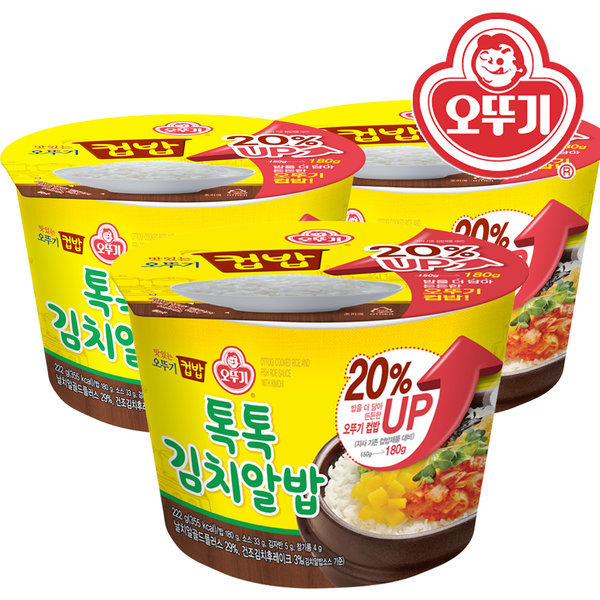오뚜기 톡톡 김치알밥 222g X12개 /컵밥/즉석밥/덮밥 상품이미지