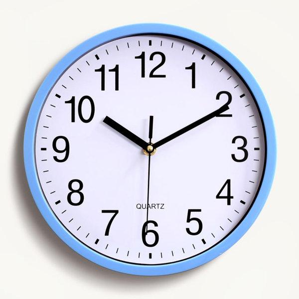 저소음 벽시계 집들이선물 인테리어 시계 (블루) 상품이미지