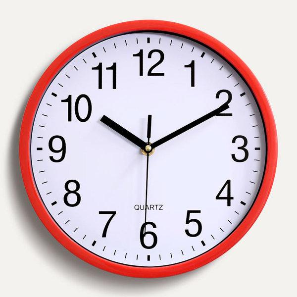 저소음 벽시계 집들이선물 인테리어 시계 (레드) 상품이미지
