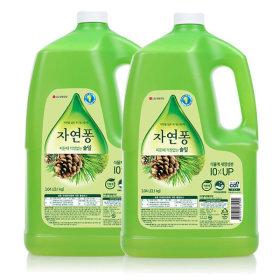 자연퐁 주방세제 솔잎 3.1kg 2개 +지퍼백증정